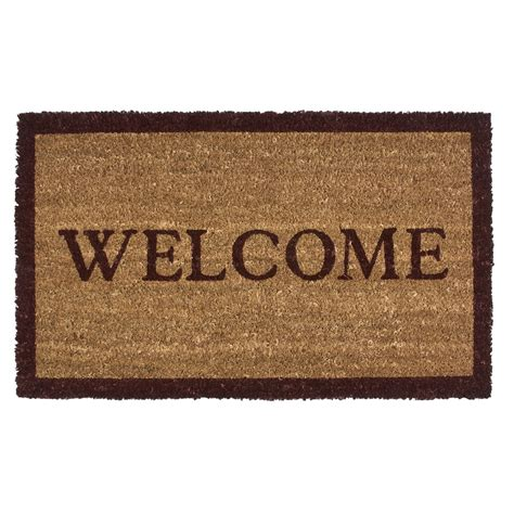 Welcome Mat Imports Unlimited Simply Welcome Entry Mat Coir 18x30