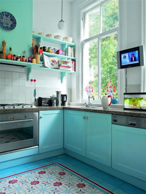 blue kitchen decor ideas 25 inspiring retro kitchen designs house design and decor