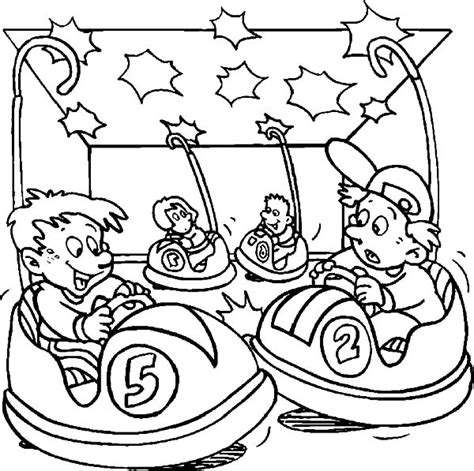 Carnival Bumper Cars Coloring Pages Best Place