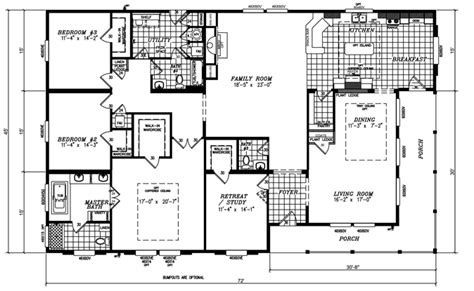 5 bedroom manufactured home floor plans triple wide mobile home floor plans new quadruple wide
