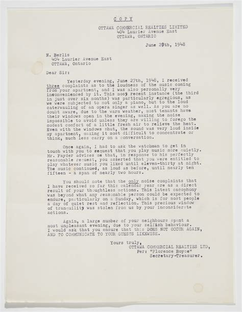 Complaint Letter Noise Bringing Forgotten Artists Back To Light