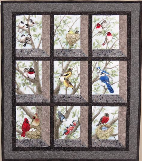 Attic Window Quilt Pattern by Quilted And Pieced Wall Hanging Attic Window Birds In