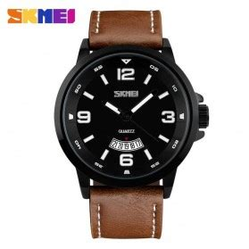 Skmei 9113 Original Water Resistant 50m Black Brown skmei trendy led display water resistant 50m dg1142 black jakartanotebook