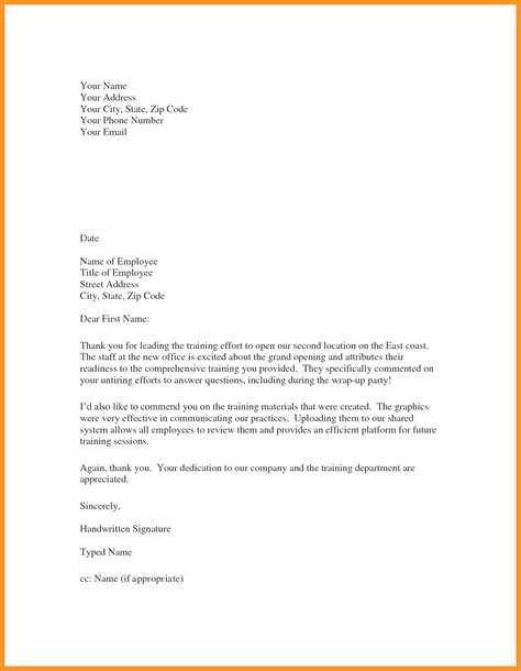 how to write appreciation letter to employees sle employee appreciation letter bio letter format