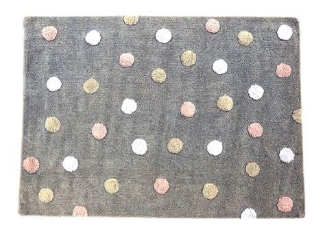 teppiche grau rosa tupfen teppich kinderteppich grau rosa aus baumwolle