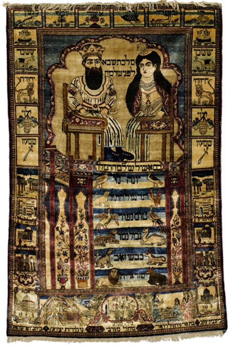 the rug king a kashan pictorial silk rug 1850s depicting king solomon and the of
