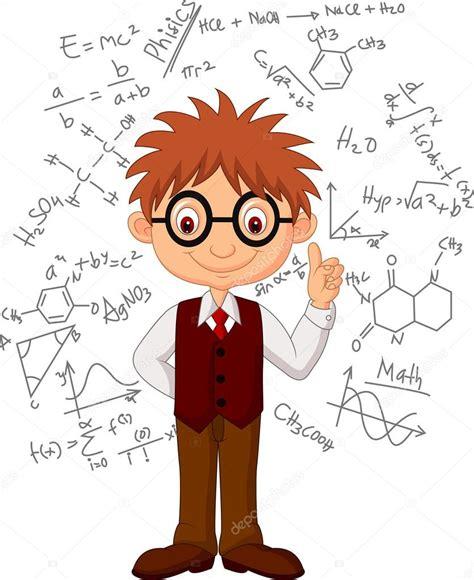 imagenes de escuelas inteligentes dibujos animados de chico inteligente vector de stock