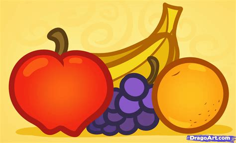 fruit drawings how to draw fruit for step by step food pop