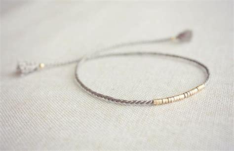 thread and bead bracelets lucia friendship bracelet silk thread bracelet grey