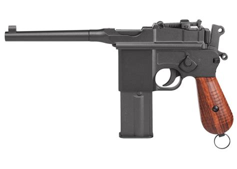 libro the broomhandle mauser weapon kwc mauser m712 broomhandle 4 5mm metal bb blowback pistol glasgow angling centre