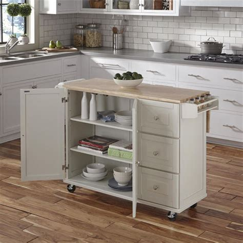 home styles brushed satin stainless steel kitchen island liberty wood top mobile kitchen cart w wood or stainless