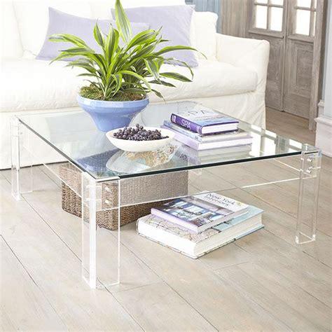 acrylic table with glass coffee table wisteria