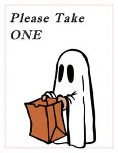 Please take one halloween sign free printable halloween please take
