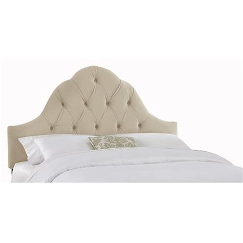 twin tufted headboard velvet arch tufted headboard twin 7053968 hsn