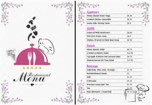 Restaurant Menu Templates Word by Menu Templates Ms Word Template Microsoft Office Templates
