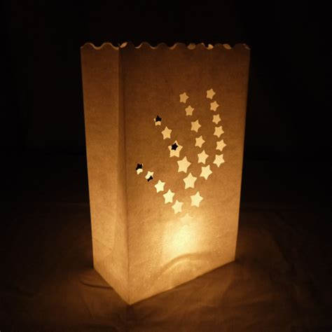 Luminaries Paper Bags - shooting luminarias paper craft bag 10 pack