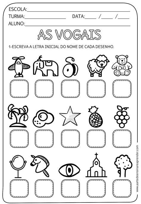 education preescolar atividade pronta vogal inicial act de escritura