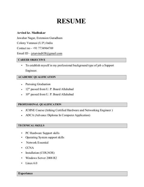comfortable create a resume for fresher ideas