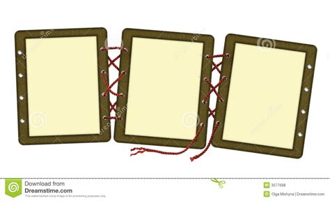 frame for pictures frame for three photos laces stock illustration image