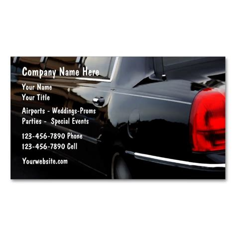 Limousine Business by 17 Best Images About Limo Taxi Business Cards On