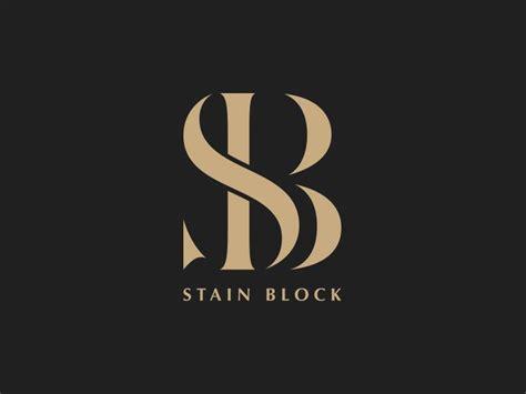 design a monogram logo stain block monogram logo branding pinterest