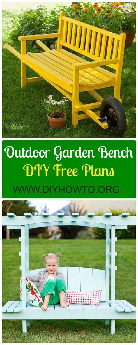 diy arbor bench design plans free diy outdoor garden bench ideas free plans instructions