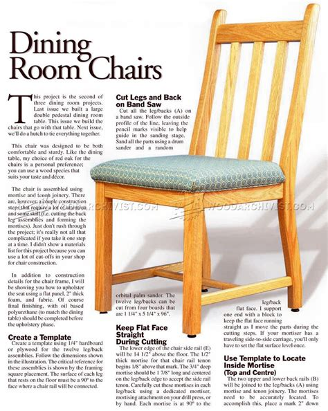 Wooden Dining Chair Plans Wood Wooden Chair Plans Dining Room Chairs Plans Free