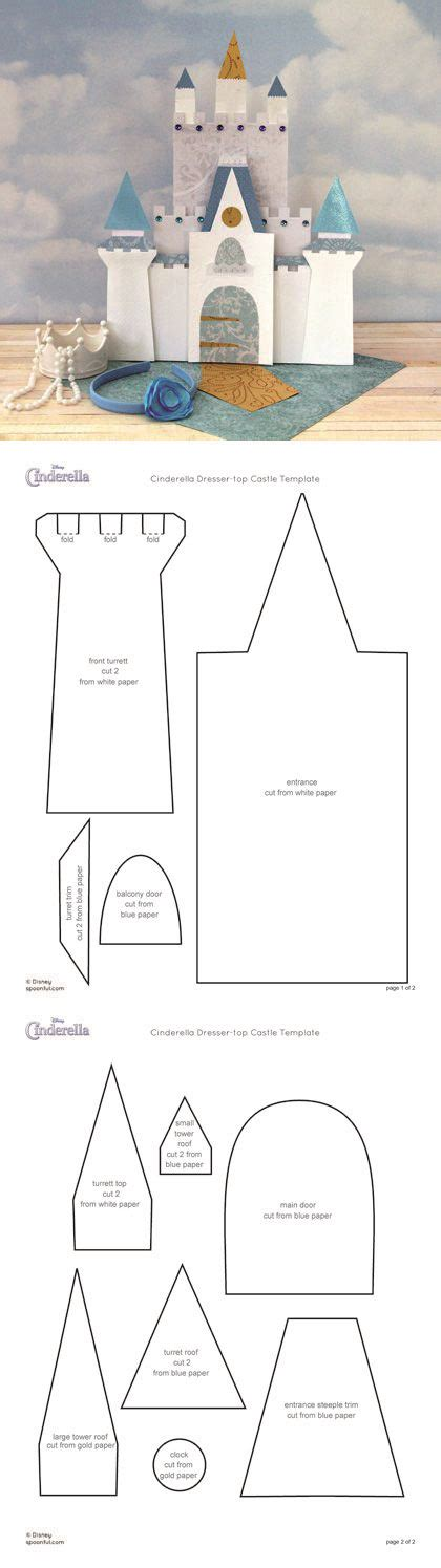 cut out castle template cinderella s castle actual link http family disney
