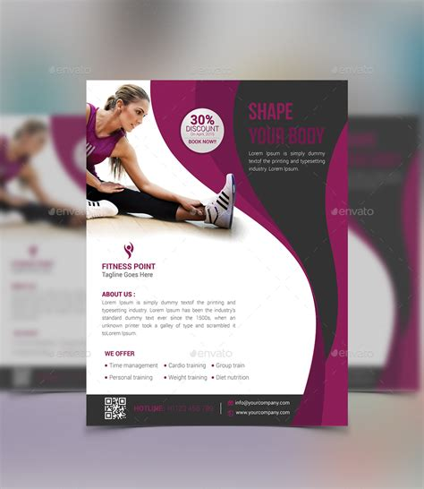 creative flyer design graphicriver creative fitness flyer design by twingraphic graphicriver