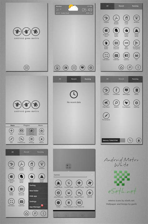 android themes white metro white theme android go launcher ex by gseth on