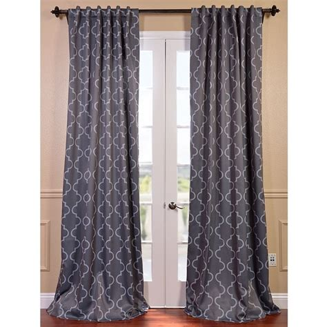 grey print curtains seville print blackout curtain panel