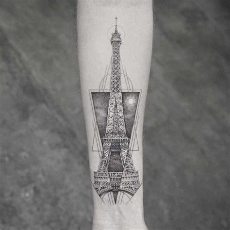 eiffel tower tattoo on hand dotwork eiffel tower tattoo best tattoo ideas gallery