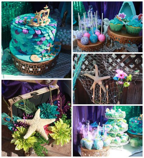 little decorations kara s party ideas little mermaid themed birthday party