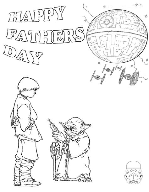 Star Wars Father S Day Coloring Page | star wars fathers day coloring page h m coloring pages