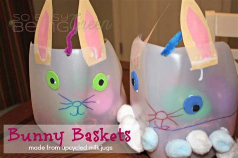milk jug crafts for home upcycled easter baskets made from milk jugs