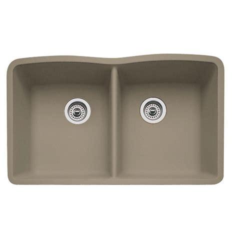 blanco granite kitchen sinks blanco undermount granite 32 in 0 hole double