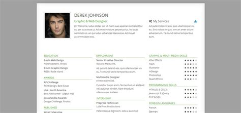 bootstrap resume template 25 bootstrap resume cv templates page 2 of 3