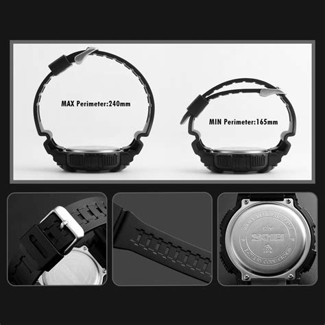Jam Tangan Skmei Sporty Waterproof skmei jam tangan sporty smartwatch bluetooth 1256