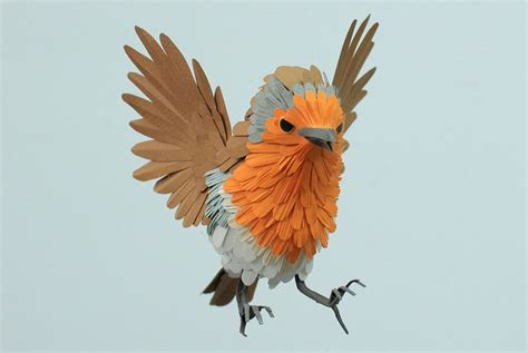 Birds With Paper - paper bird sculptures by diana beltran herrera