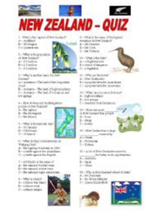 australia new zealand quiz worksheet free esl intermediate esl worksheets new zealand quiz