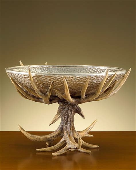 antler home decor john richard 15x23x23 antler stand w bowl traditional home decor charlotte by the classy