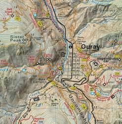 map of ouray colorado telluride silverton ouray trails colorado topo map
