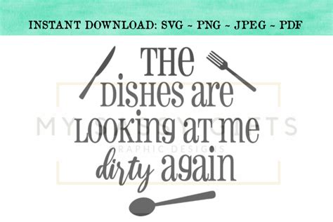 funny  dishes     dirty  kitchen svg