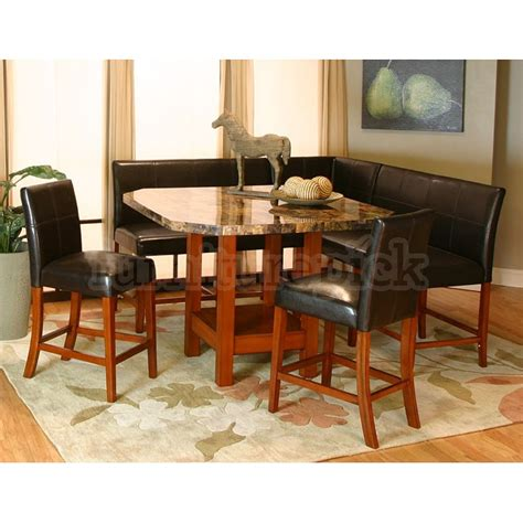 Nook Dining Room Table Counter Height Nook Dining Set 187 Gallery Dining
