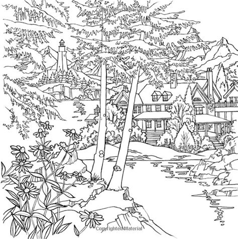 country landscape coloring page 1000 images about adult coloring pages ideas on pinterest