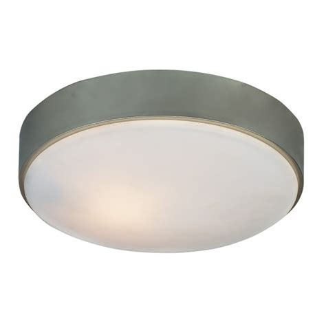 Portfolio 11 In W Aztec Brushed Nickel Ceiling Flush Mount Portfolio Ceiling Light