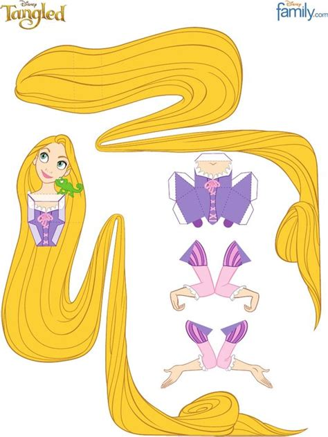 Disney Paper Craft - disney rapunzel and tangled on
