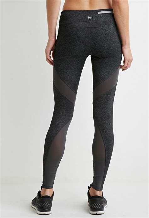 Forever 21 Active Legging Back Mesh Grey mesh active trendy clothes
