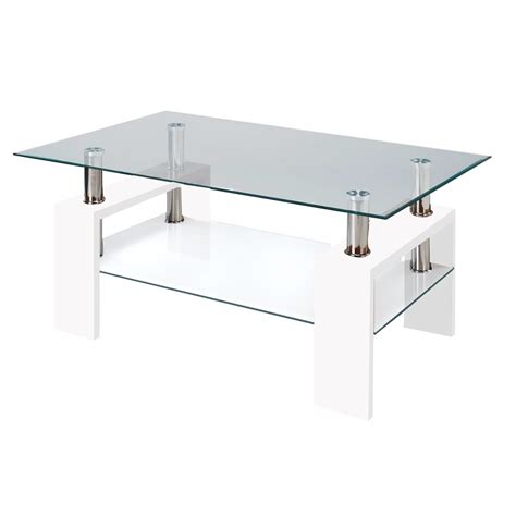 glass and mirror coffee table fab glass and mirror modern glass coffee table w shelf