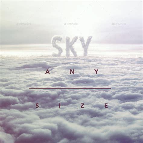 3d sky 3d sky cloud font mock up by gk1 graphicriver